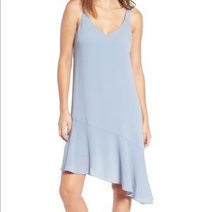 Lush Asymmetrical Ruffle Hem Dress